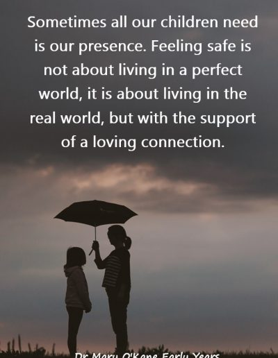 Perfectly Imperfect Parenting book by Dr Mary O'Kane - Quote number 1